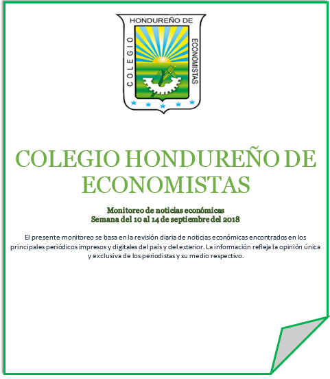 Boletín de noticias económicas del 10 al 14 de septiembre