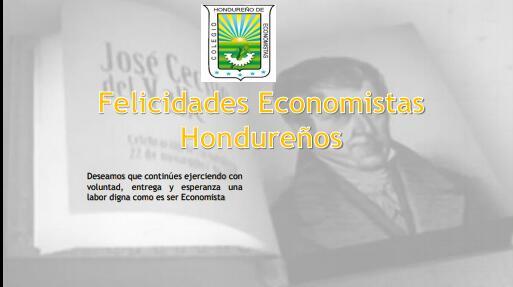 Feliz día del Economista Hondureño