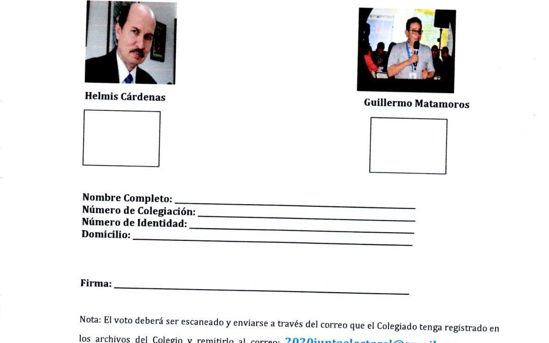 Voto Electrónico Elecciones 2020-2022